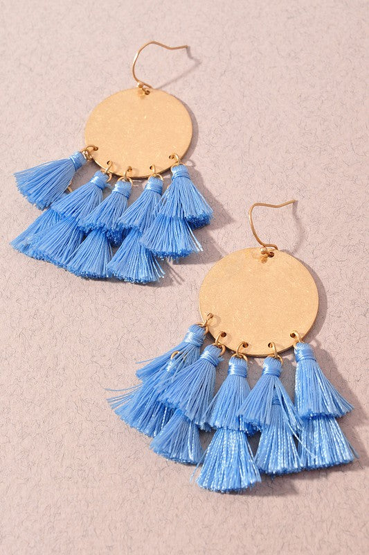 Katie Earrings-Light Blue