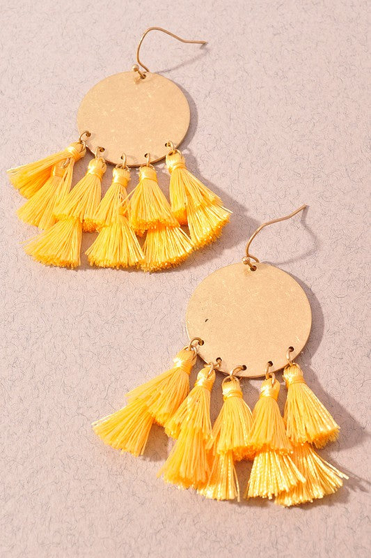 Katie Earrings-Yellow