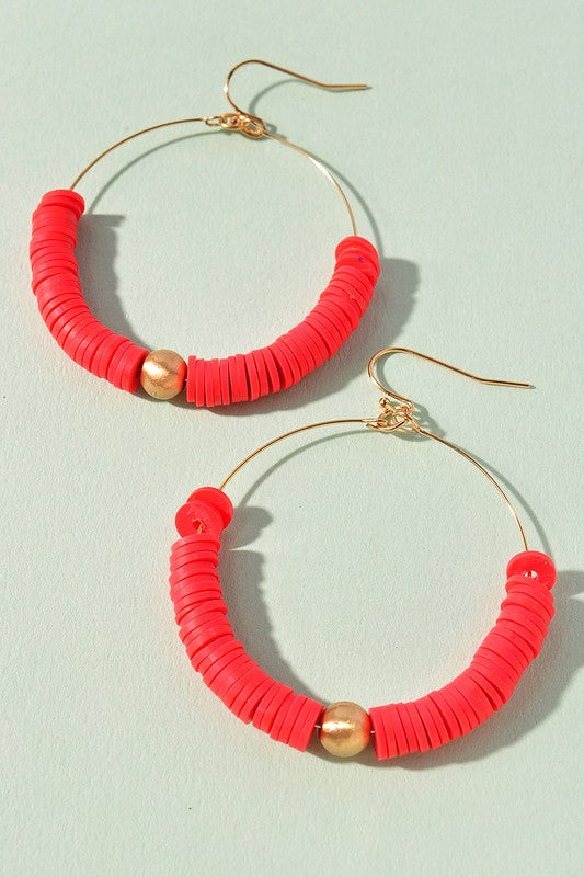 Jillian Earrings-Coral