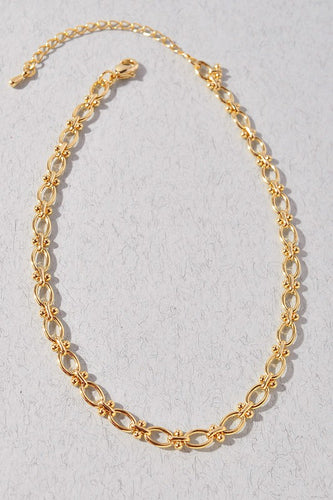 Gold Single Layer Chain Necklace