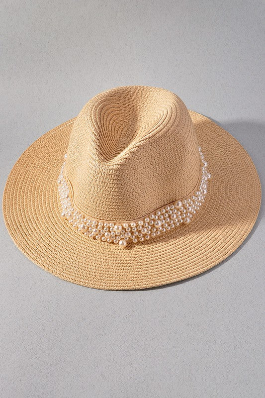 Pearl Banded Hat-Ivory