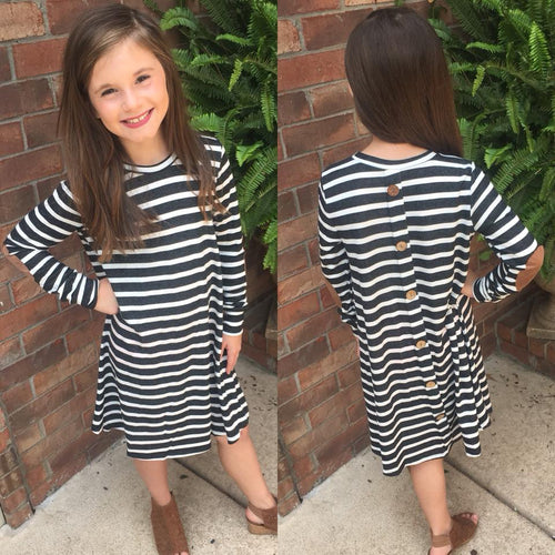 Girls Striped Tunic Dress