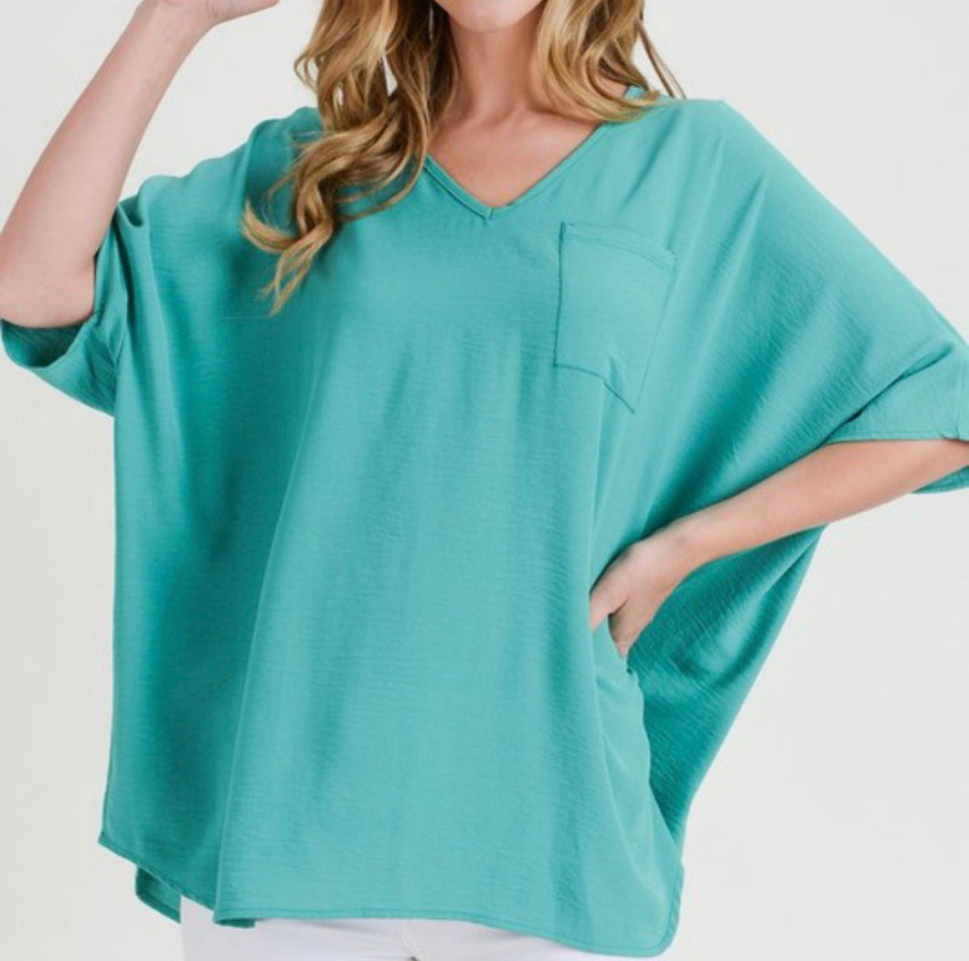 Claire Top-Green
