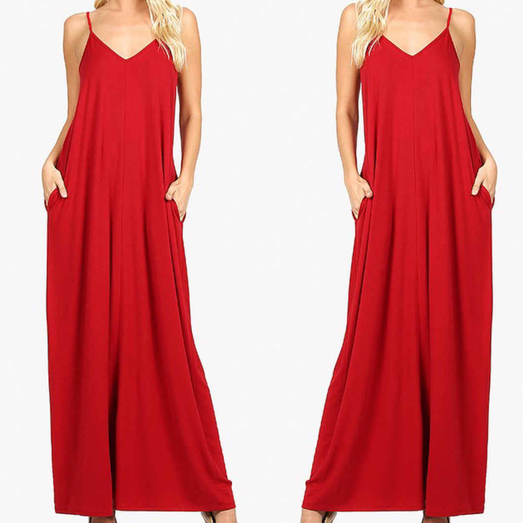 Gianna Maxi Dress-Red