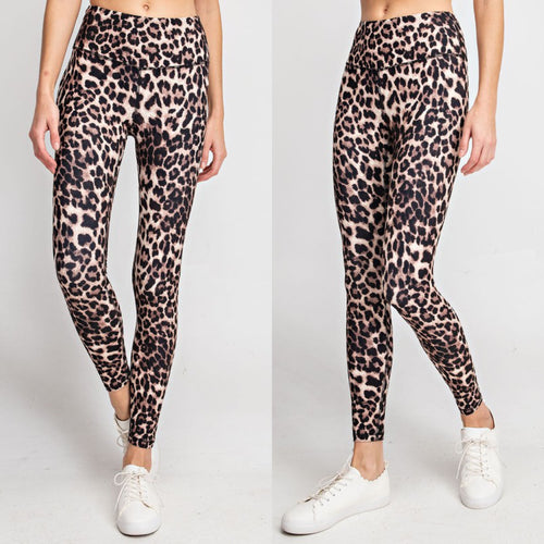 Leopard Buttery Soft Basic Leggings