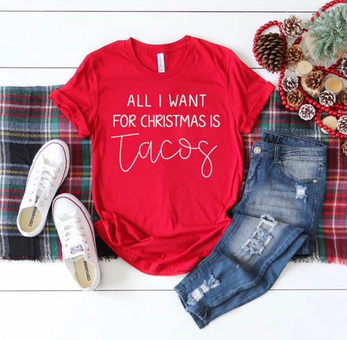 All I Want For Christmas Is Tacos Tee