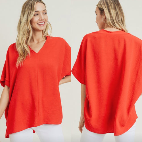 Megan Top-Tomato Red
