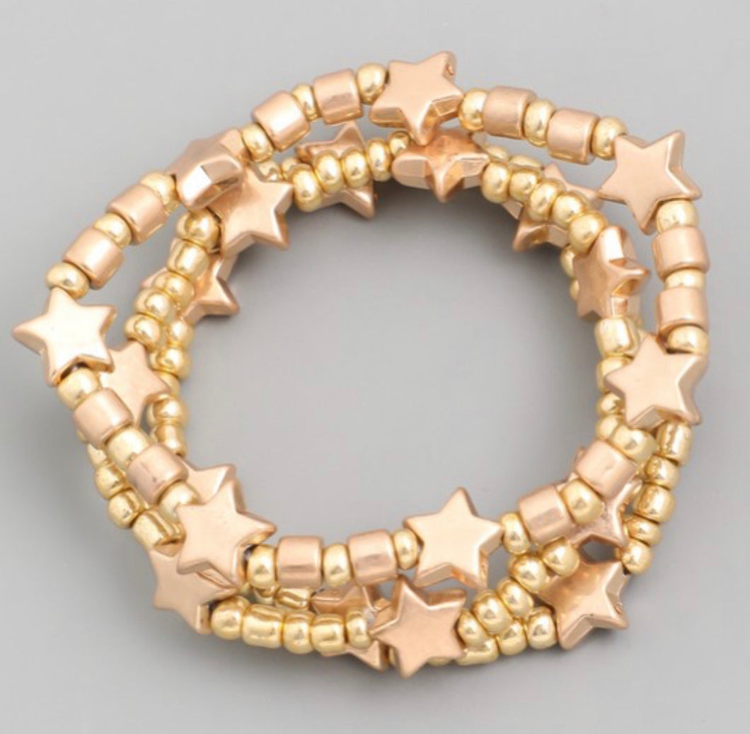 Star Beaded Bracelet-Gold