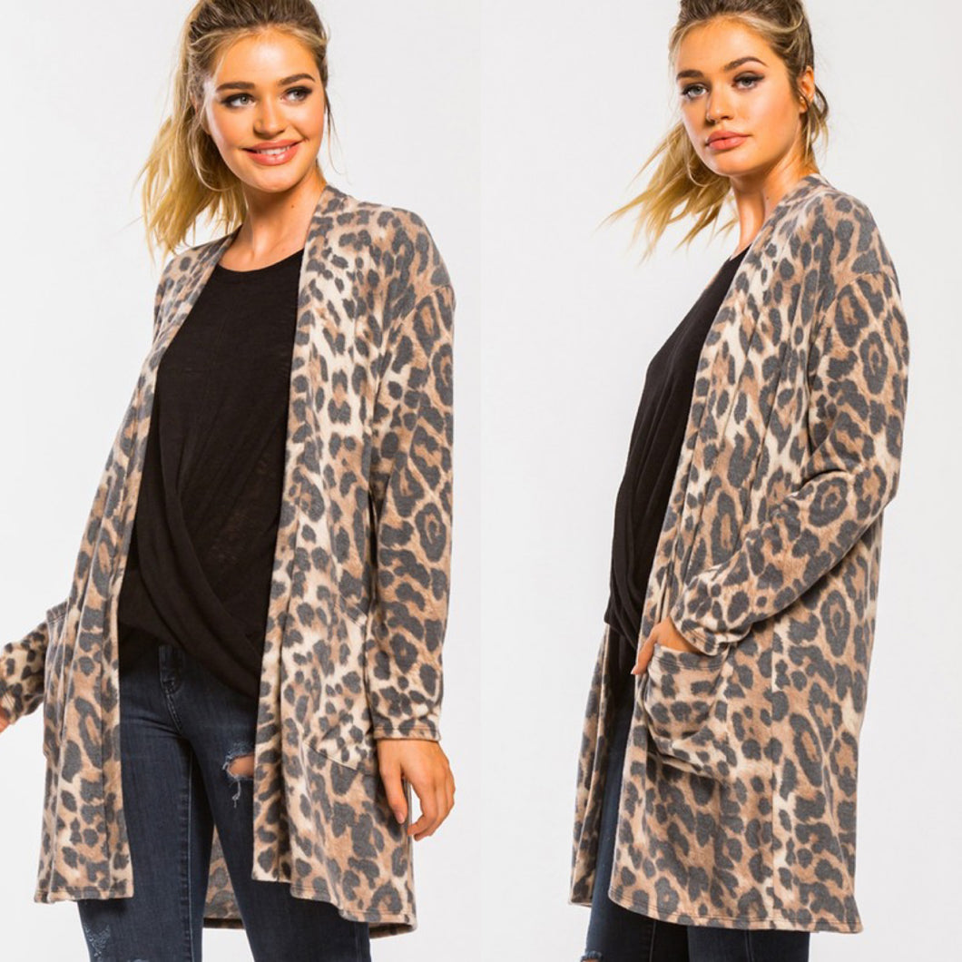 Leopard Pocket Cardigan