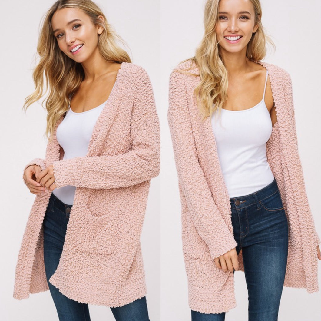 Maci Cardigan-Blush