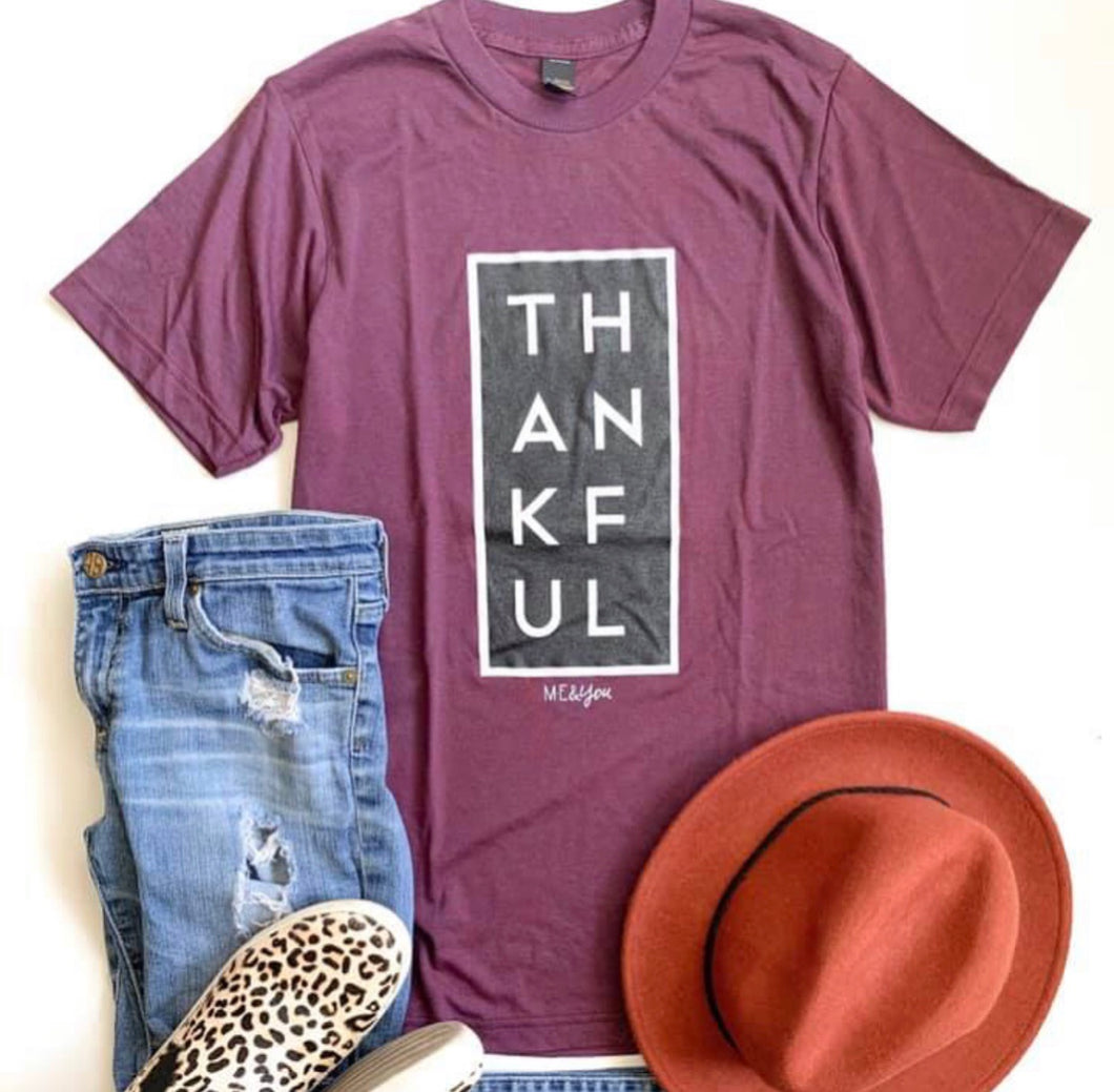 Thankful Tee-Cranberry