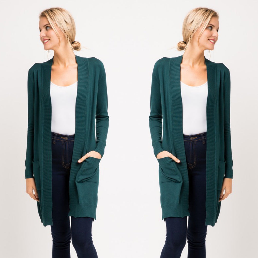 Whitney Cardigan-Teal