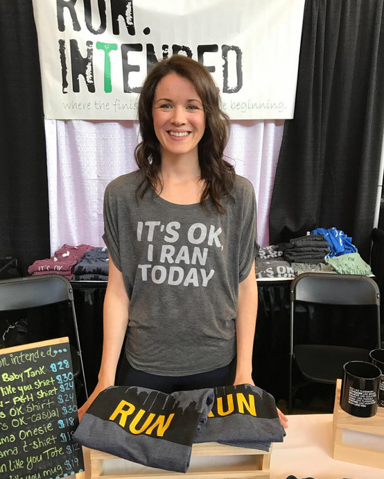 It's OK, I Ran Today- Flowy T-Shirt