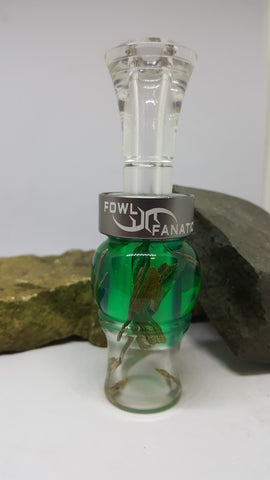 Green Fade to Clear Grass Duck Call