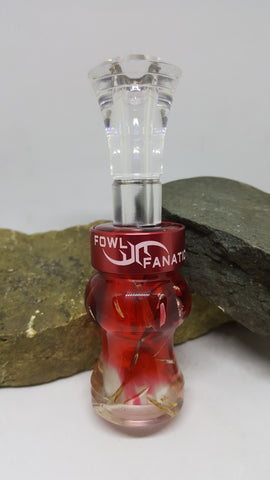 Red Fade To Clear Grass Duck Call