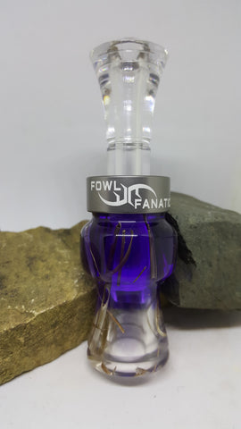 Purple Fade To Clear Grass Duck Call