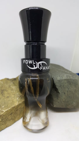 Black Fade To Clear Grass Goose Call