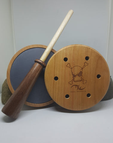 Cherry Turkey Pot with Walnut/Hickory Striker