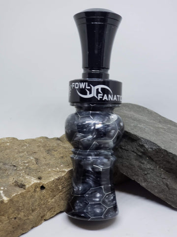 Black & White Honeycomb Duck Call