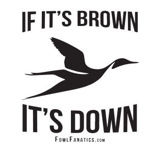 If It's Brown It's Down Decal