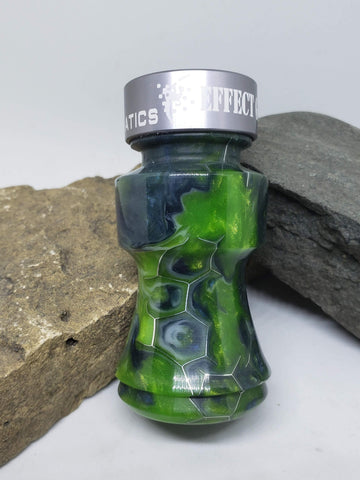 Green & Blue Google Earth Honeycomb Goose Call