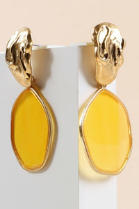 CJ's Yellow Dangle Earrings