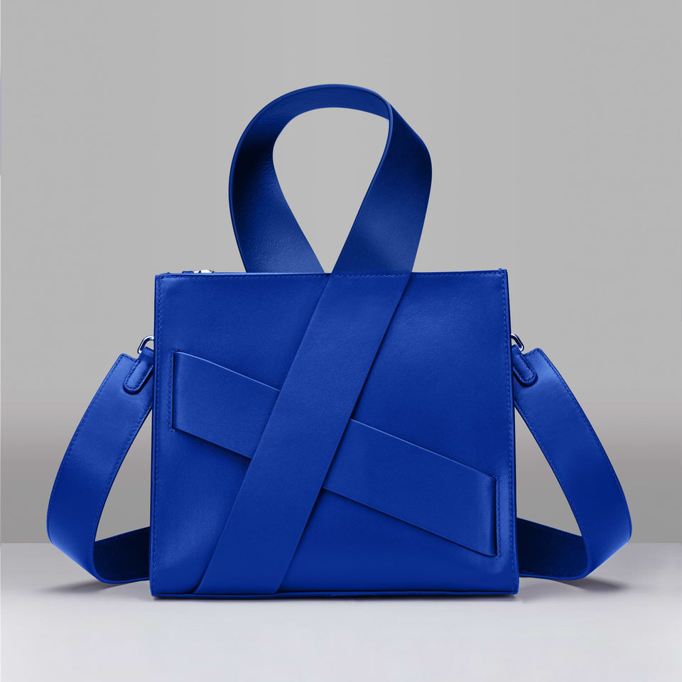 BLUE DIAGONAL ZITA BAG