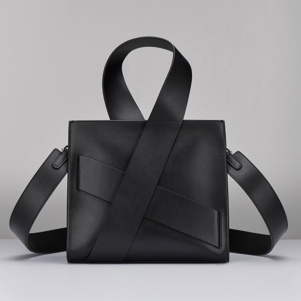 BLACK DIAGONAL ZITA BAG