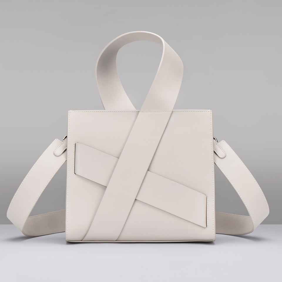 WHITE DIAGONAL ZITA BAG