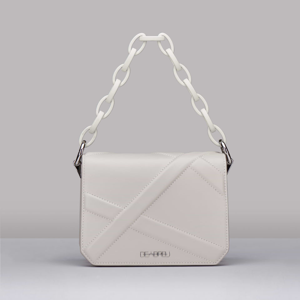 WHITE CROSS BODY BAG X LINE