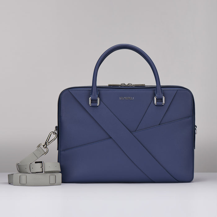 BLUE SAFFIANO LEATHER  BUSINESS
