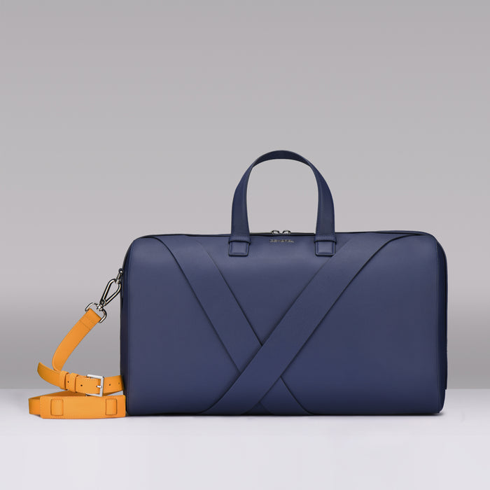 BLUE SAFFIANO LEATHER TRAVEL