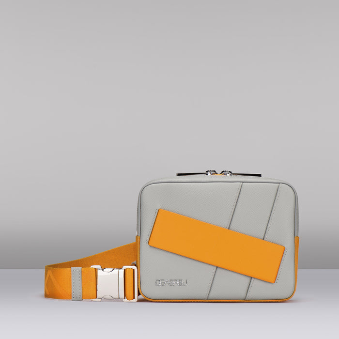 GRAY BELT AND CROSSBODY BAG