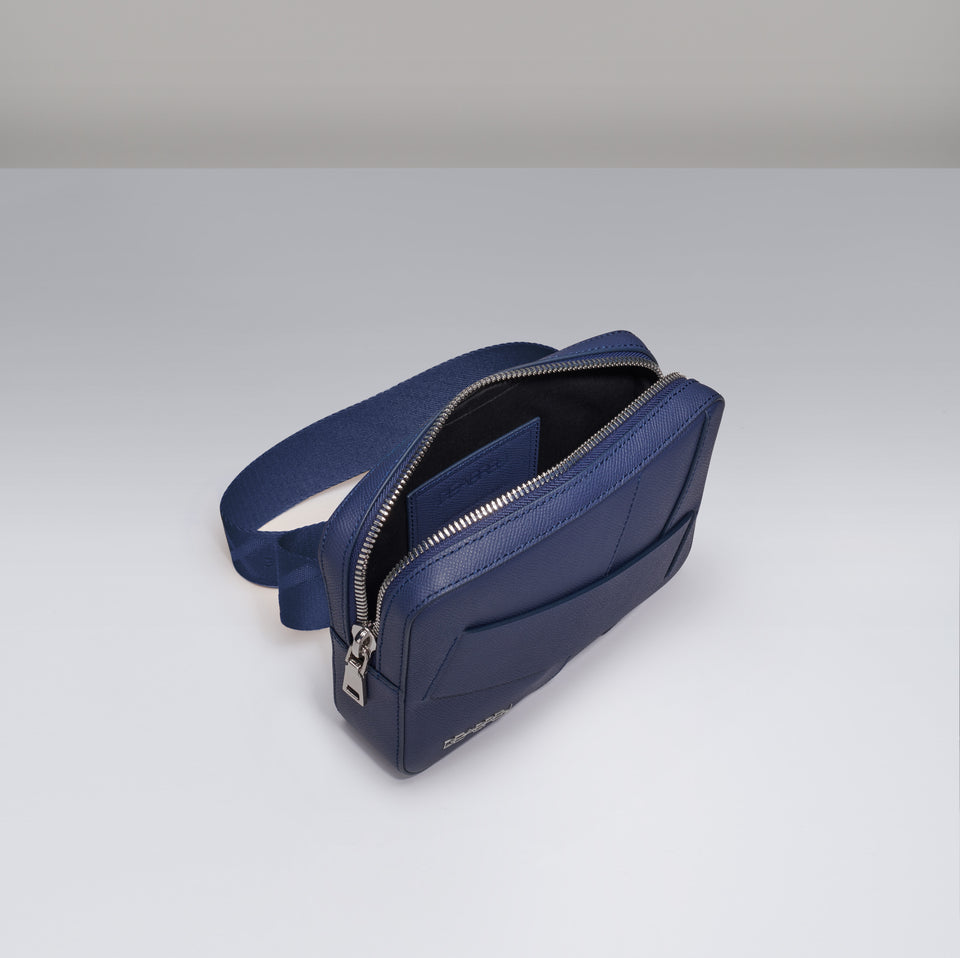 BLUE BELT AND CROSSBODY BAG