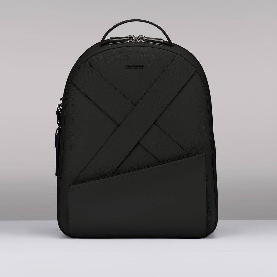 BLACK SAFFIANO LEATHER BACK PACK
