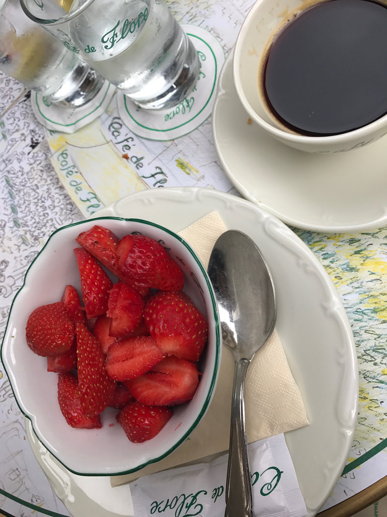 Cafe de Flore - strawberries and coffee