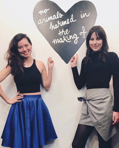 Lindsey from Velvet Report with Leanne Mai-ly Hilgart at Vaute Couture New York City