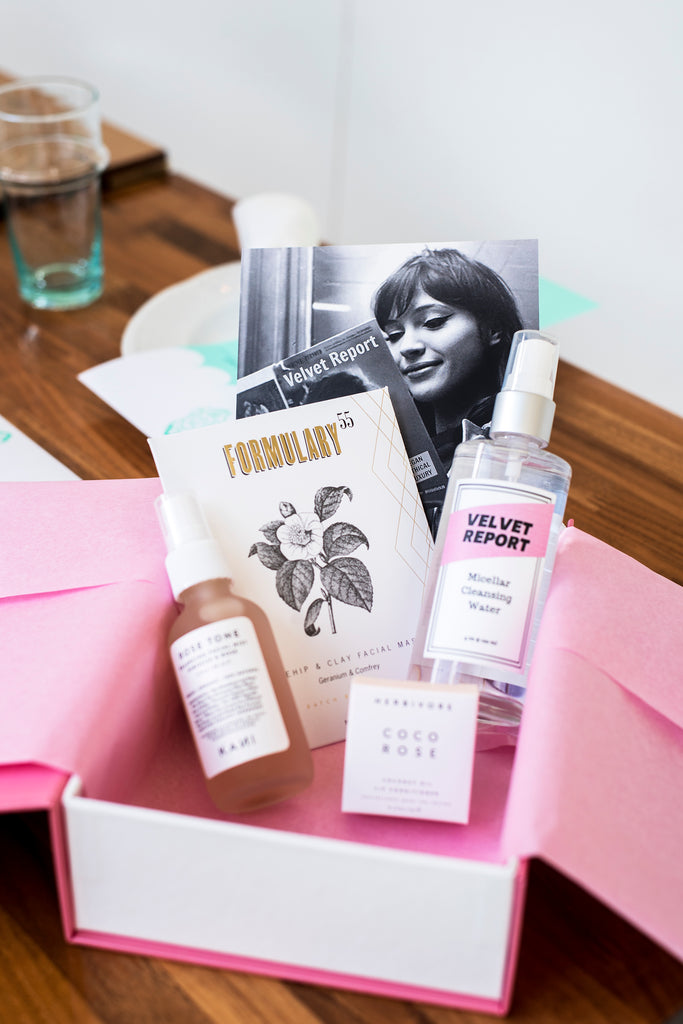 Velvet Report Seattle Bloggers Brunch - Rose Vegan Beauty Set and Micellar Water