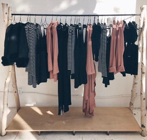 Clothing rack at Reformation Melrose