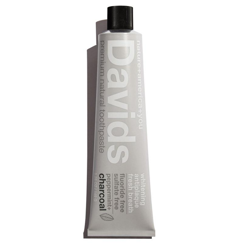Davids Peppermint + Charcoal Natural Toothpaste