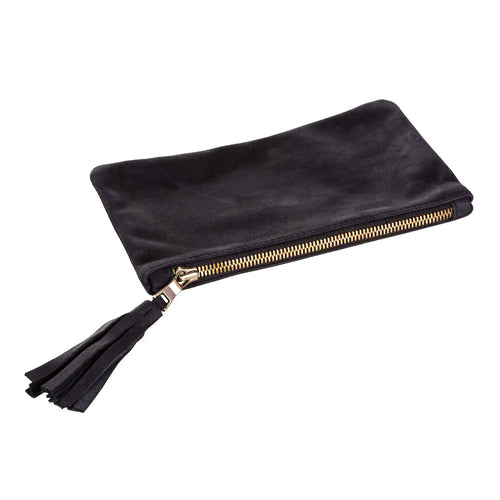 Wallet Clutch - Black Leather