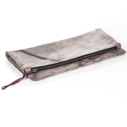 Fold Over Clutch - Gray Tie Dye