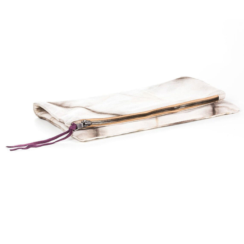Fold Over Clutch - Cream Tie Dye