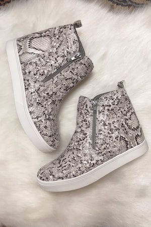 Corky's Hunt Snakeskin Wedge Sneakers