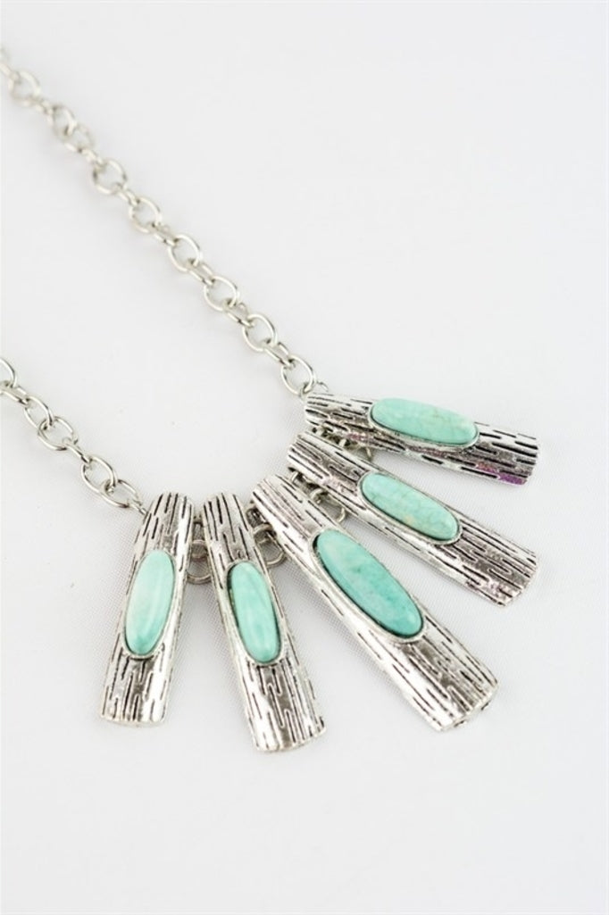 Sunburst Turquoise Necklace