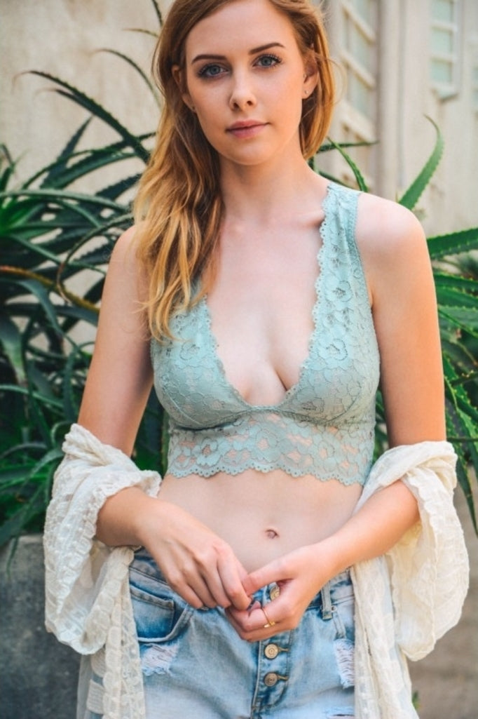 Blue Magnolia Clothing Co Sadie Bralette Mint