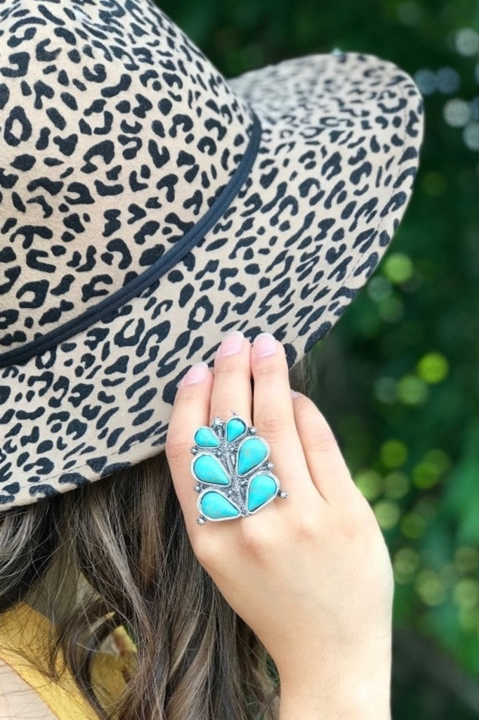 Blue Magnolia Clothing Co Turquoise Bloom Ring