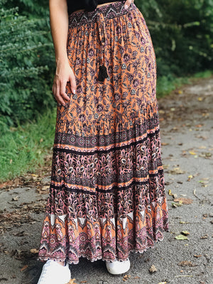 Autumn Gypsy Maxi Skirt