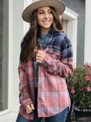 Blue Jean Baby Flannel