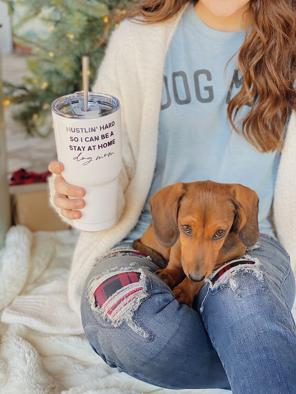 Stay At Home Dog Mom Tumbler